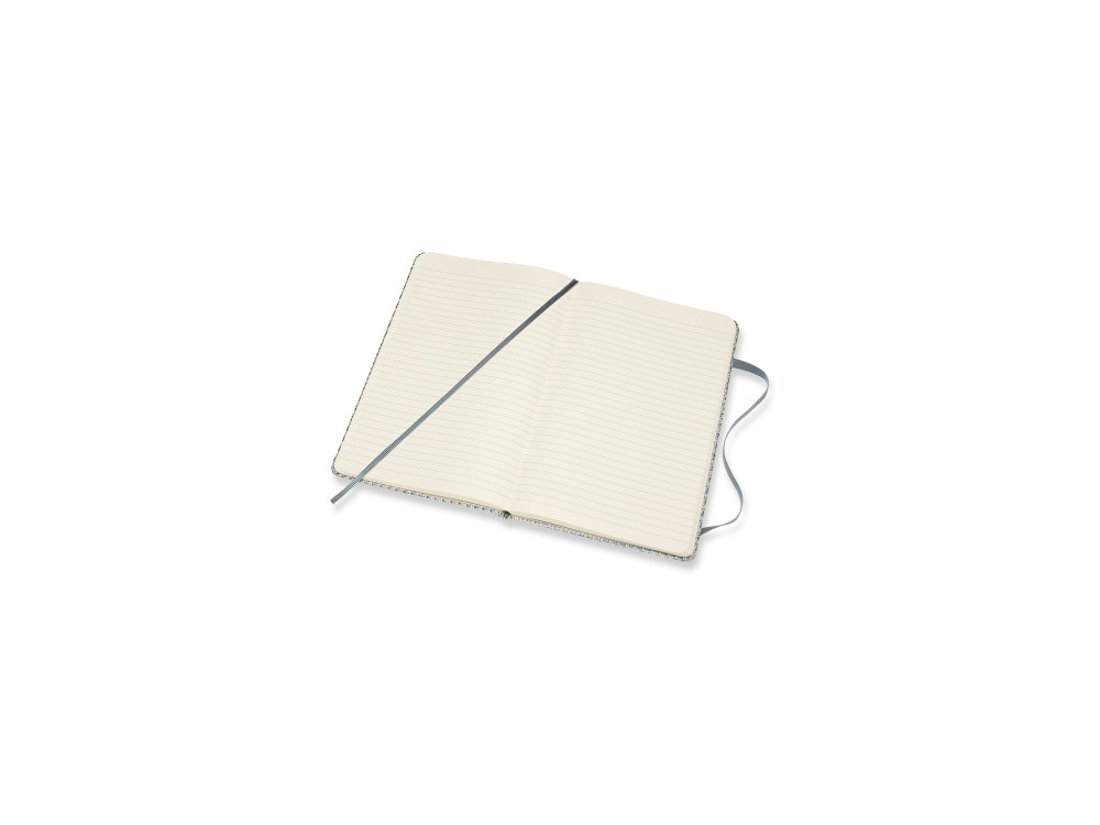Blend Notebook, Jacquard Weave - Moleskine - ruled, hard, L, blue