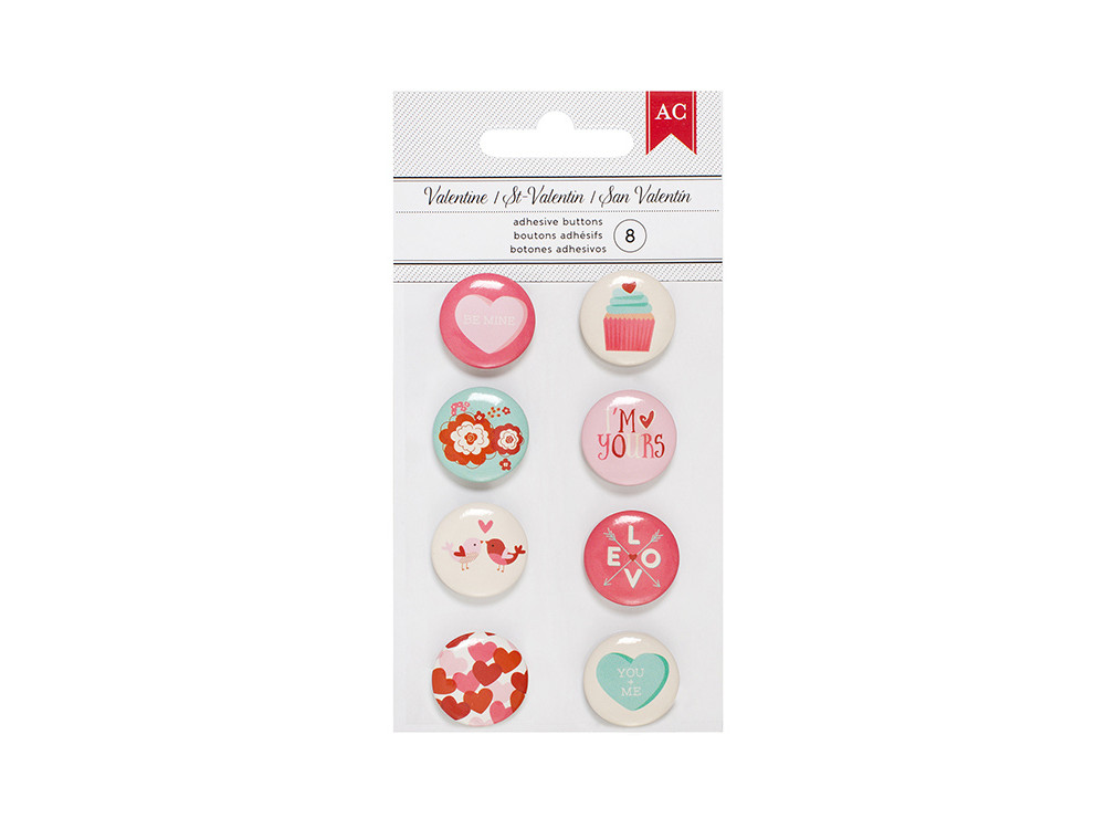 American Crafts - Valentines 2017 Collection - Mini Flair Stickers  New Item