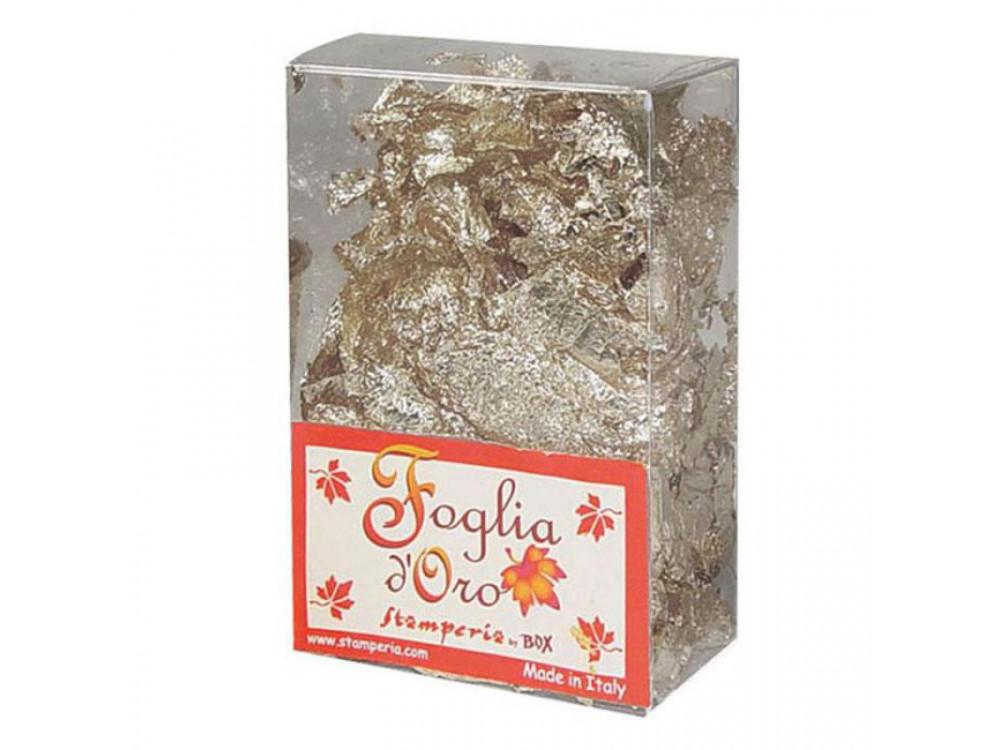 Gilding Foil Stamperia Silver Flakes