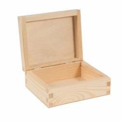 Pudełko drewniane, kasetka - 14,5 x 12 x 6 cm