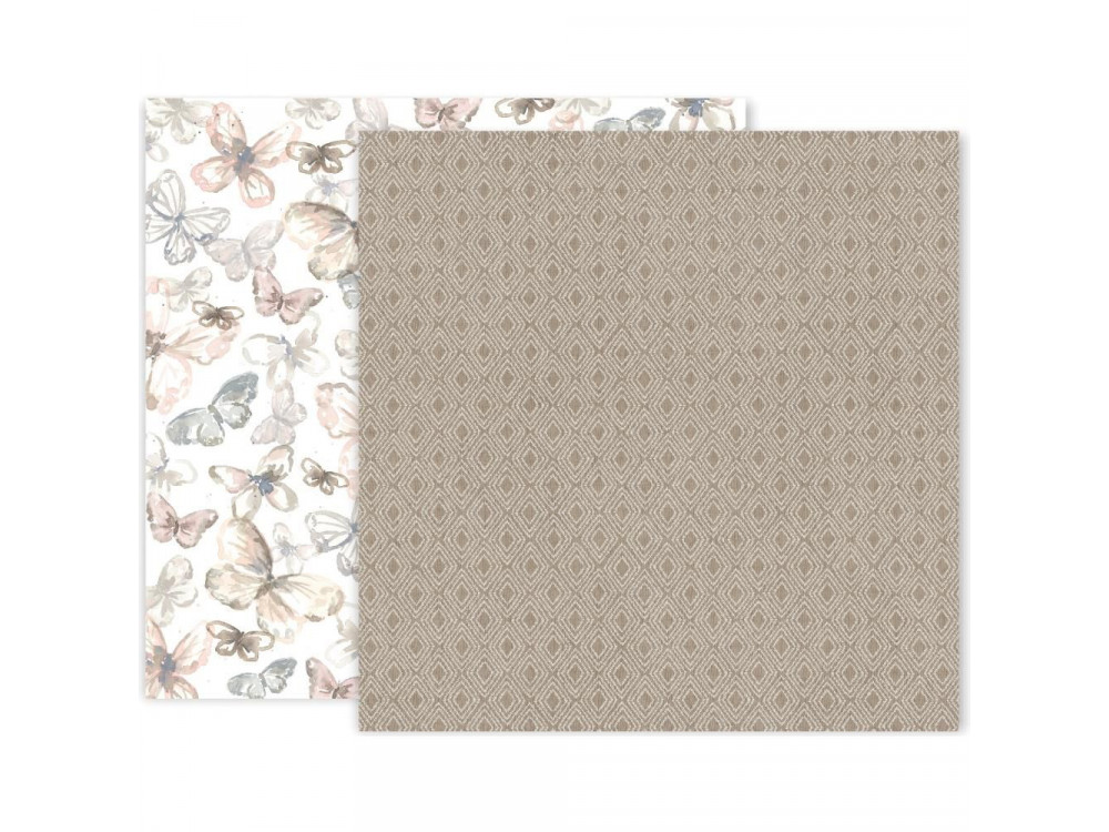 Decorative paper - Pink Paislee - Indigo & Ivy 03