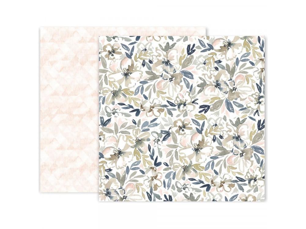 Decorative paper - Pink Paislee - Indigo & Ivy 05