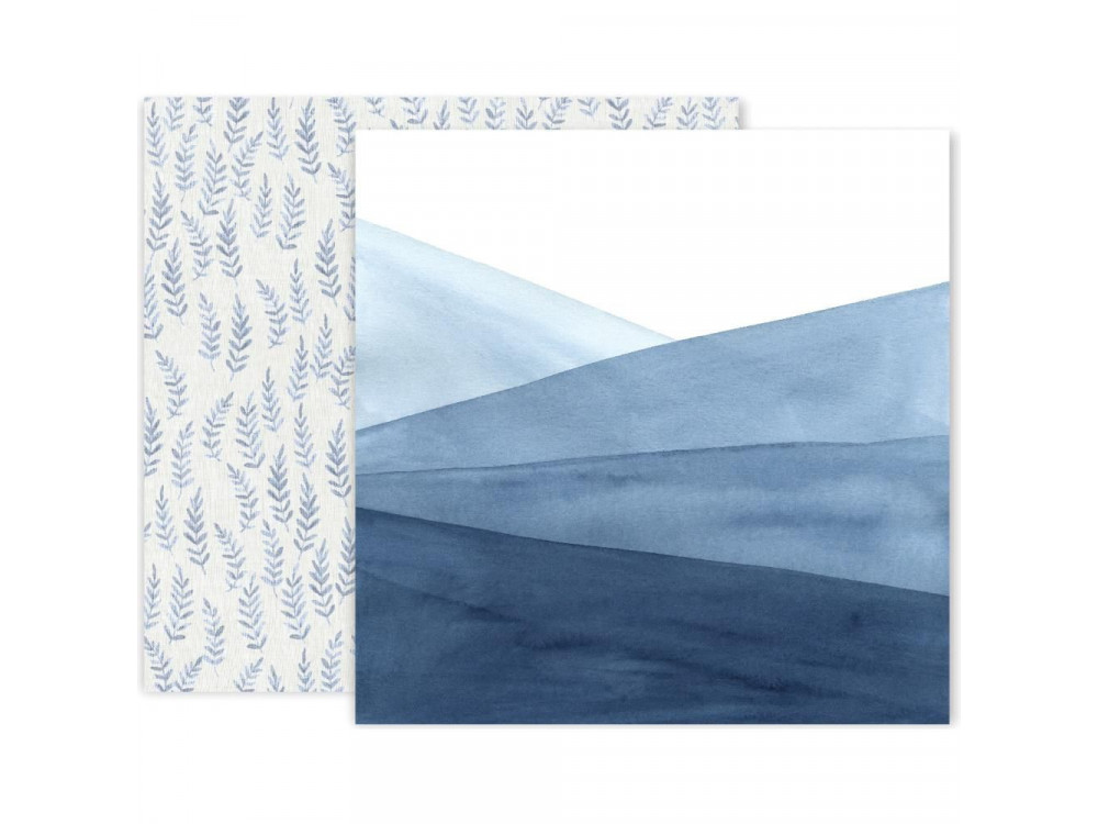 Decorative paper - Pink Paislee - Indigo & Ivy 09