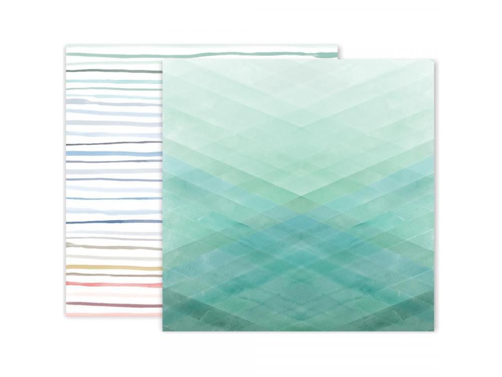 Decorative paper - Pink Paislee - Indigo & Ivy 12