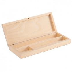 Piórnik drewniany z przegródkami - 22 x 8,5 x 3 cm