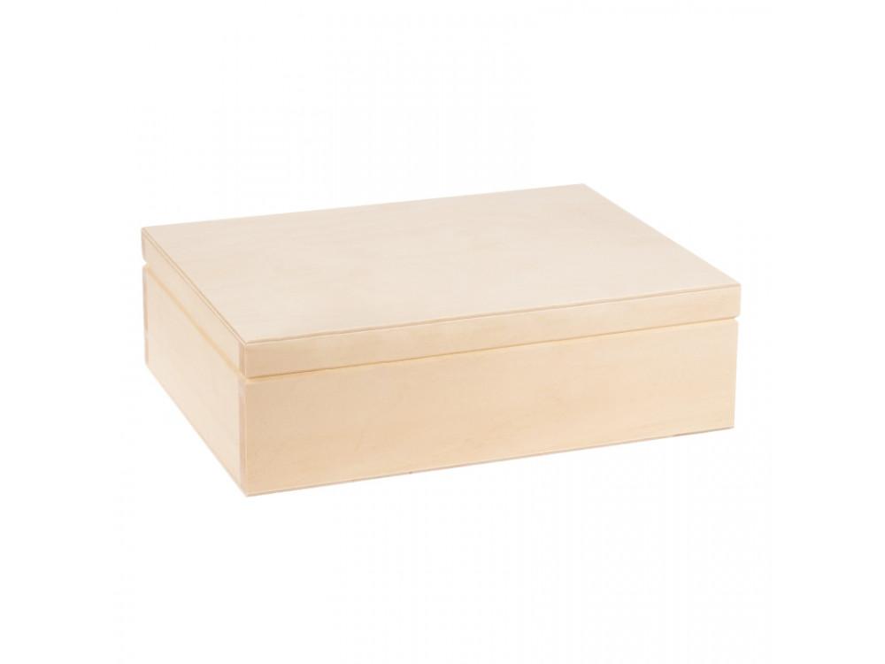 Drewniane pudełko kasetka 27,5 x 20,5 cm