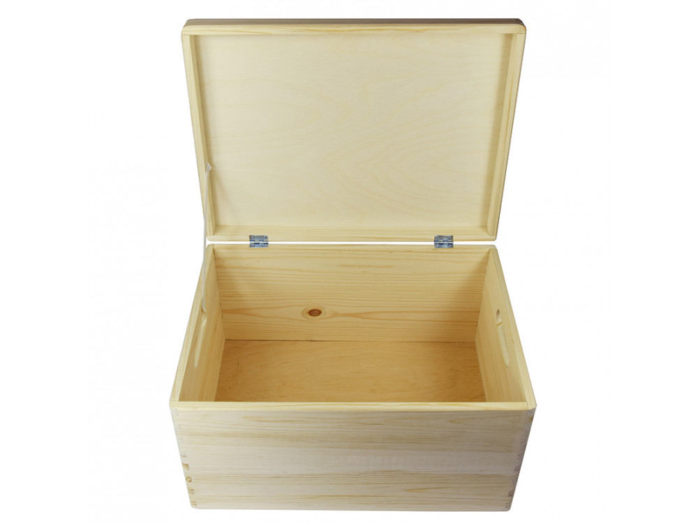 Wooden Chest with Lid - Big