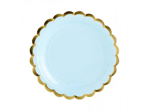 Paper Plates light blue, 18 cm 6 pcs