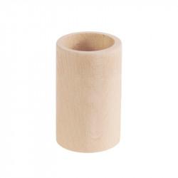 Kubek bukowy na długopisy, okrągły