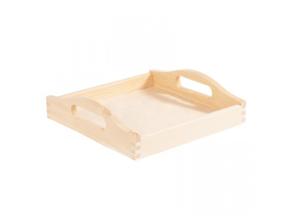 Taca drewniana kwadratowa - 24 x 24 cm