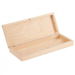 Piórnik drewniany bez przegródek - 20,5 x 8 x 3,8 cm