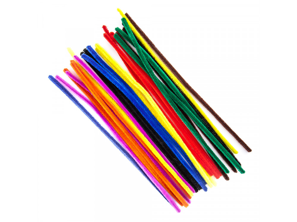 Chenille creative stems - DpCraft - colorful, 30 cm, 25 pcs.