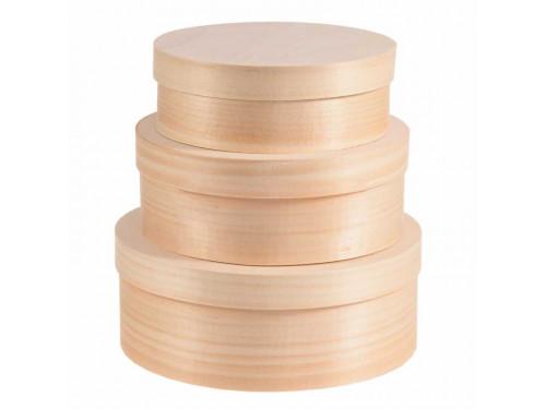 Pudełka z łuby 3 w 1 - okrągłe
