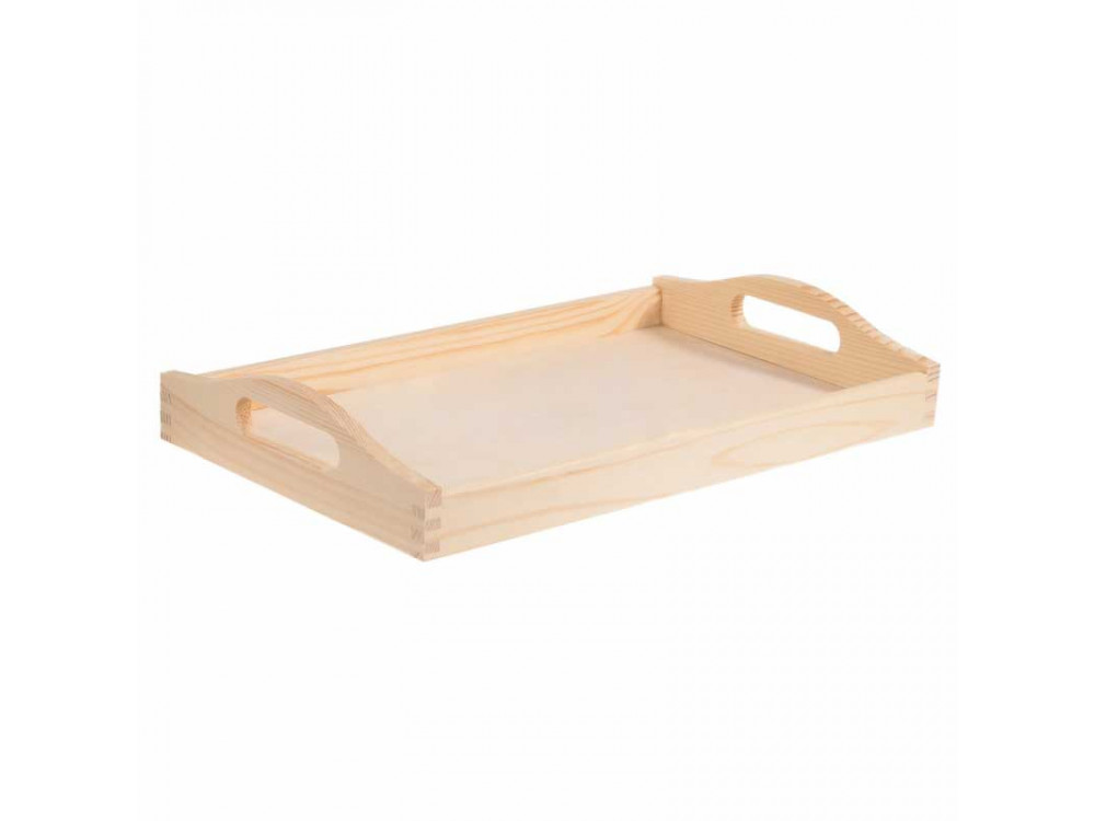 Wooden simple tray - small, 20 x 30 cm