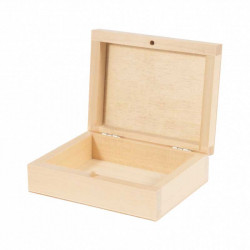 Wooden box for playing cards