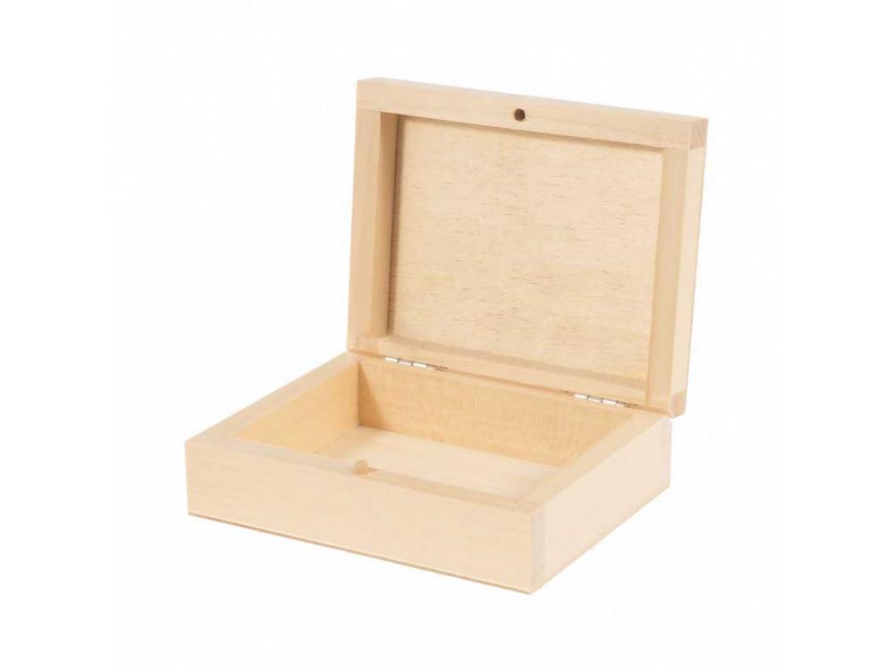 Drewniane pudełko na karty - 12 x 9,5 x 4 cm