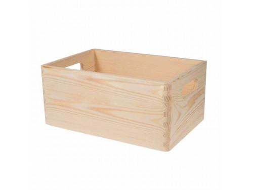 Skrzynka drewniana naturalna - 13,5 x 20 x 30 cm