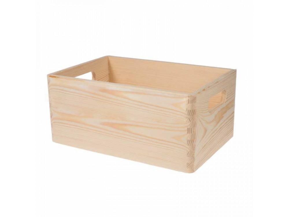 Wooden box chest - 13,5 x 20 x 30 cm