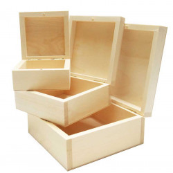 Wooden case containers - set  3 in 1