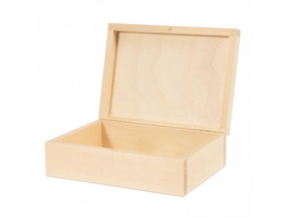 Drewniane pudełko, kasetka - 20 x 15 cm