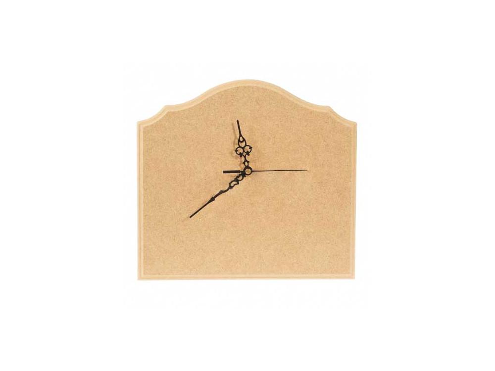 Zegar z MDF do ozdabiania - 26,5 x 29 cm