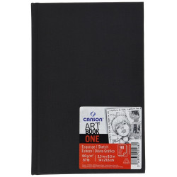 Sketchbook Art Book One A5 - Canson - black, 100 g, 98 sheets