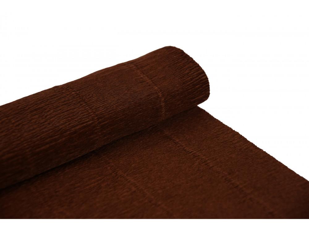 Krepina, bibuła włoska 180 g - Dark brown, 50 x 250 cm