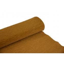 Krepina, bibuła włoska 180 g - Nut brown, 50 x 250 cm