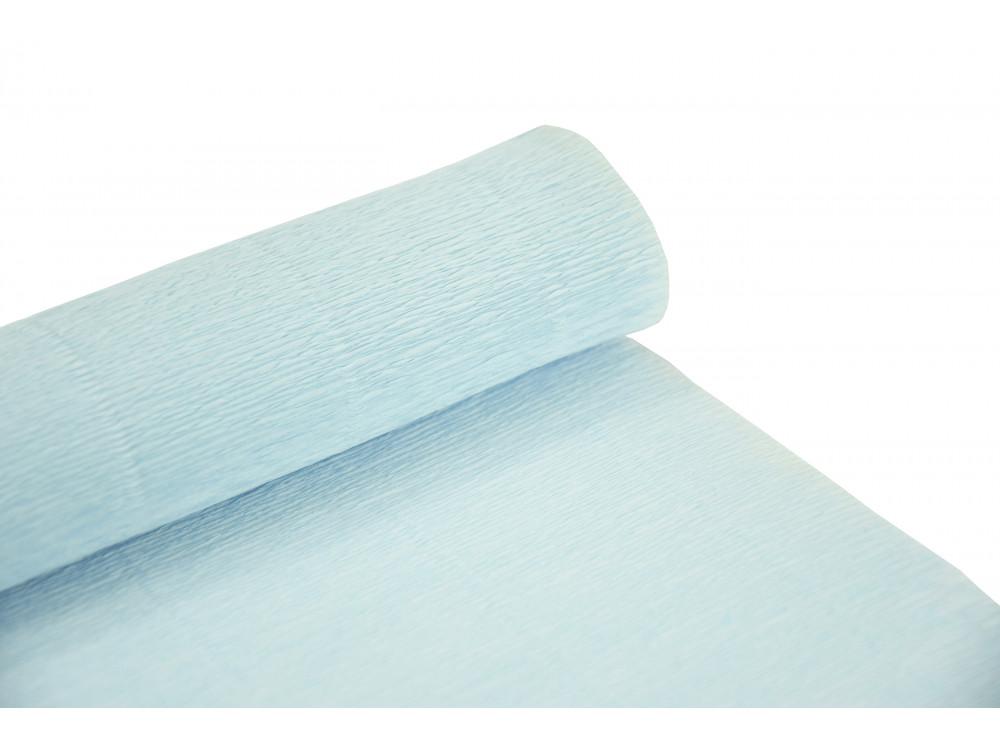 Krepina, bibuła włoska 180 g - Sky blue, 50 x 250 cm