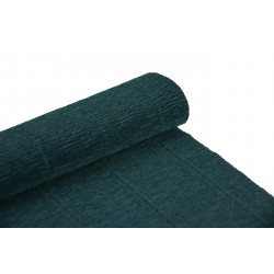 Krepina, bibuła włoska 180 g - Dark green, 50 x 250 cm