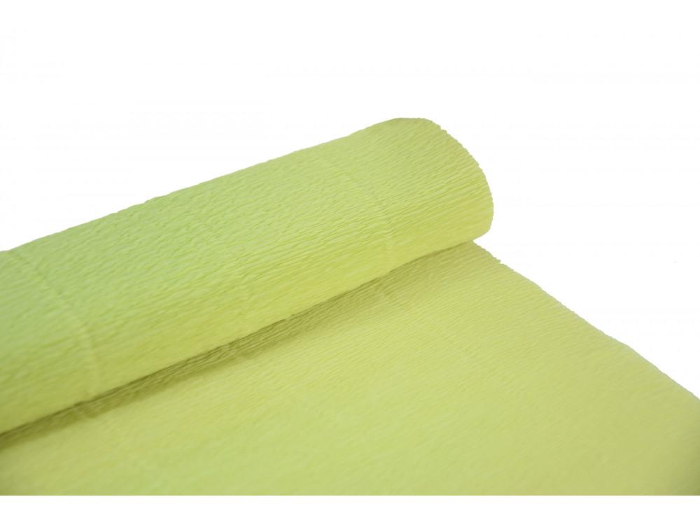 Krepina, bibuła włoska 180 g - Water green, 50 x 250 cm