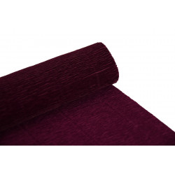 Krepina, bibuła włoska 180 g - Bordeaux red, 50 x 250 cm