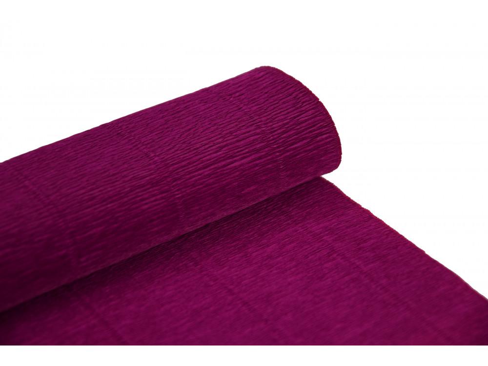 Krepina, bibuła włoska 180 g - Cyclamen violet, 50 x 250 cm
