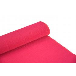 Krepina, bibuła włoska 180 g - Shocking Pink, 50 x 250 cm