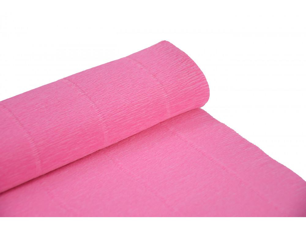 Krepina, bibuła włoska 180 g - Baby pink, 50 x 250 cm