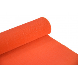 Krepina, bibuła włoska 180 g - Orange, 50 x 250 cm