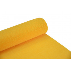 Krepina, bibuła włoska 180 g - Yellow, 50 x 250 cm