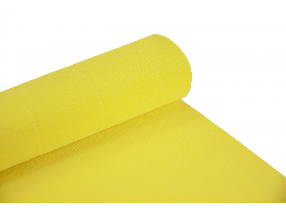Italian crepe paper 180 g/m2 - Lemon Yellow 575