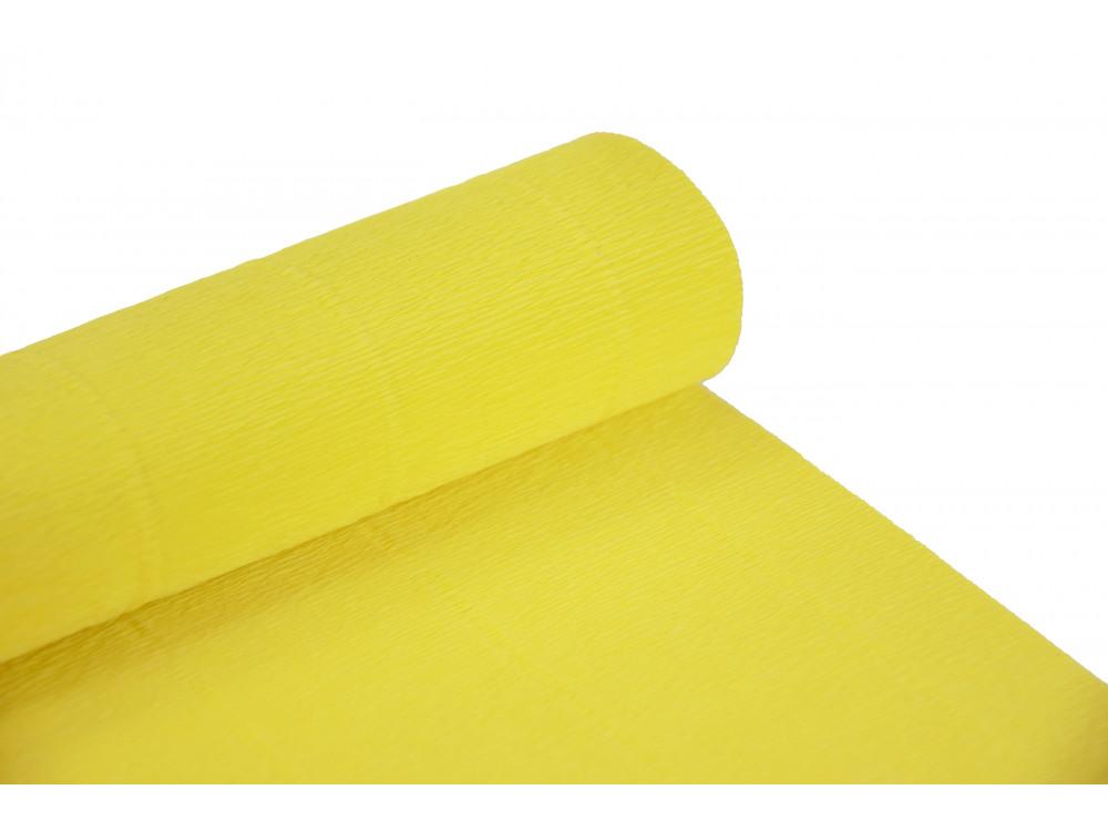Krepina, bibuła włoska 180 g - Lemon yellow, 50 x 250 cm