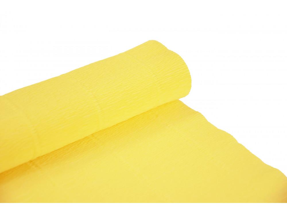 Krepina, bibuła włoska 180 g - Carminio yellow, 50 x 250 cm