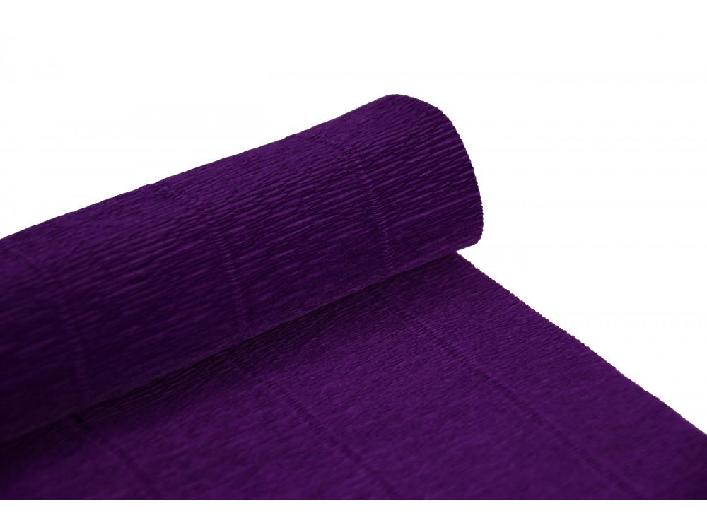 Krepina, bibuła włoska 180 g - Violet, 50 x 250 cm