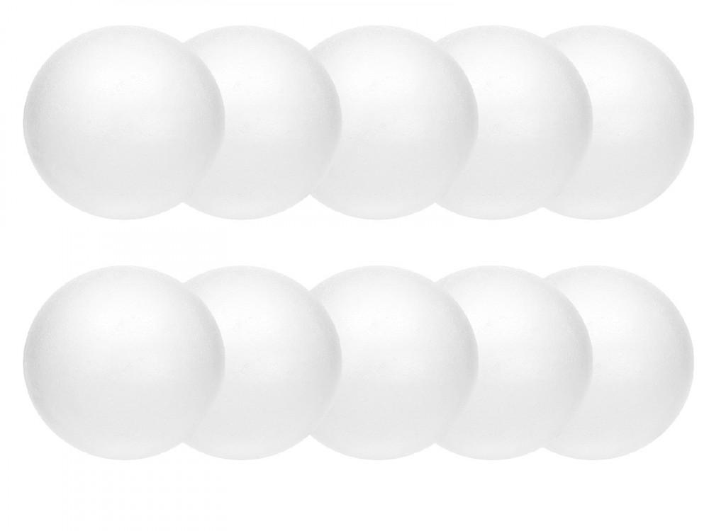 Styrofoam balls - 8 cm, 10 pcs.