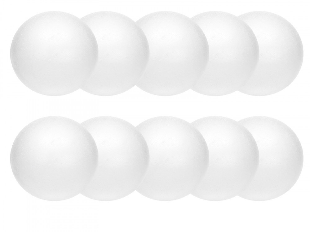 Styrofoam balls - 12 cm, 10 pcs.