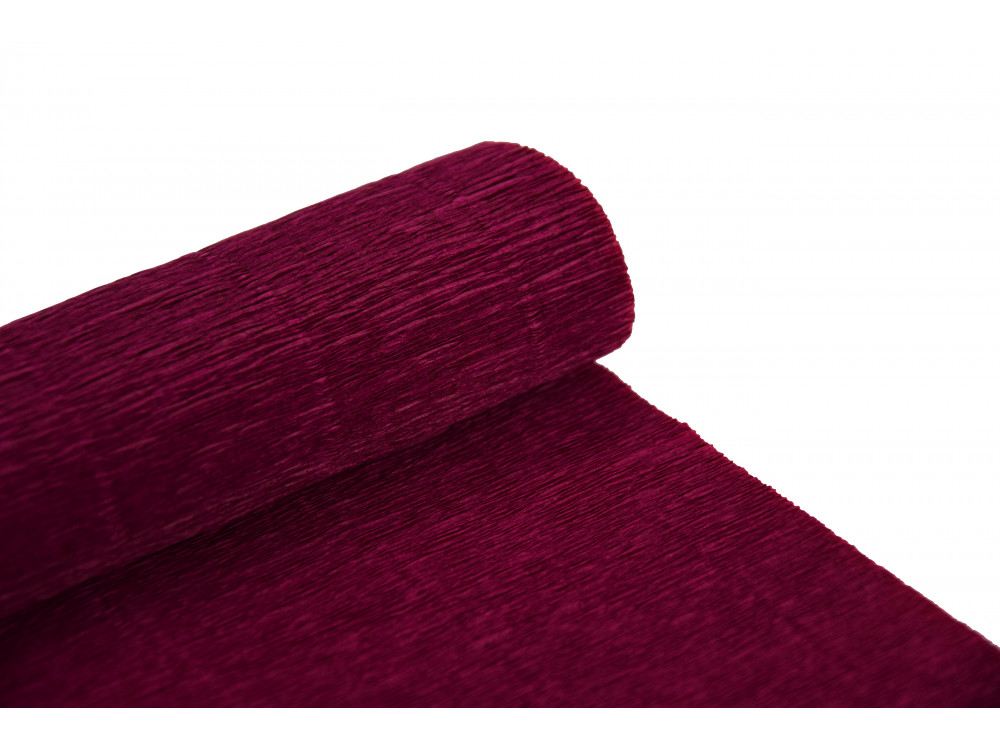Krepina, bibuła włoska 180 g - Cardinal red, 50 x 250 cm
