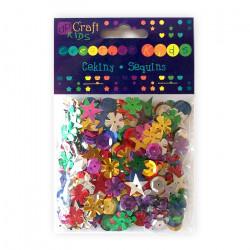 Decorative sequins - DpCraft - colorful, 28 g