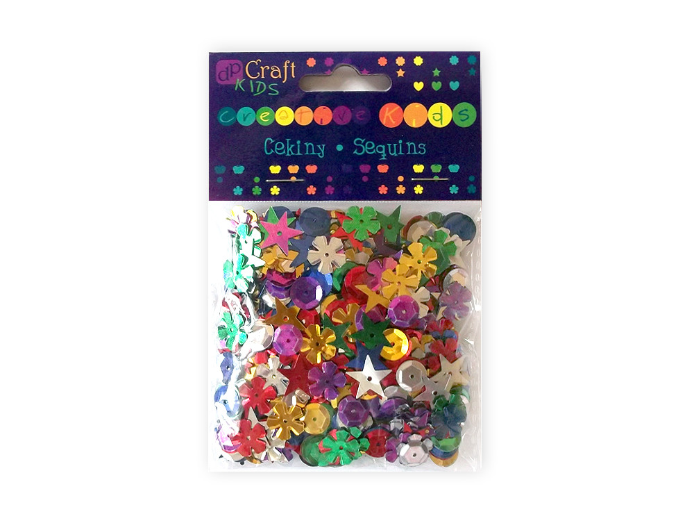 Decorative sequins - DpCraft - colorful, 28 g