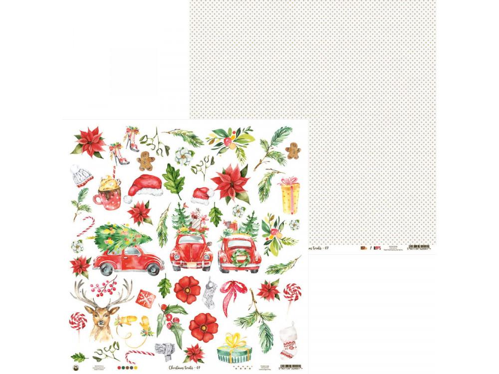 Paper 30,5 x 30,5 cm - Piątek Trzynastego - Christmas treats 07