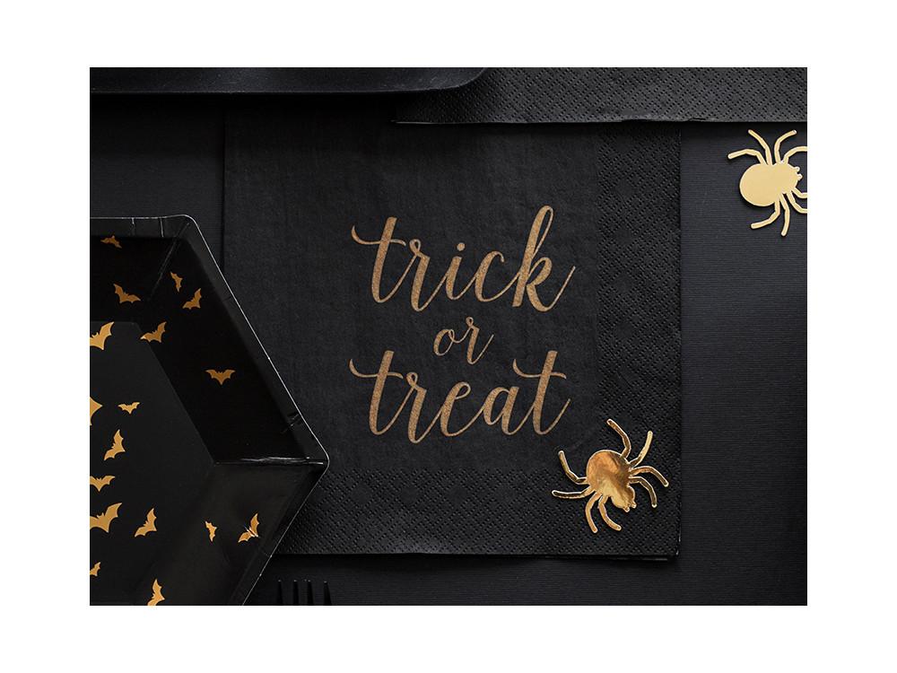 Napkins Trick or Treat - black, 33 x 33 cm, 20 pcs.