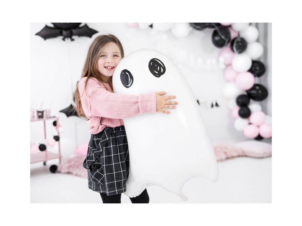 Foil balloon Ghost - white, 48 x 68 cm