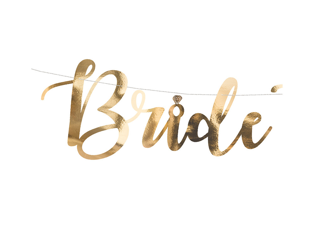 Banner Bride to be - gold, 80 cm